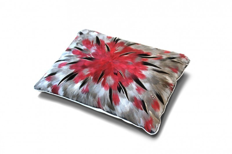 Feather Flower Pink Cushion
