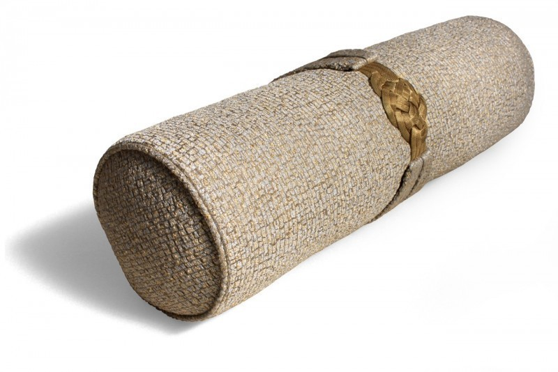 Gold Knot Bolster Cushion